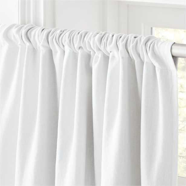"White Linen Blackout Curtain Panel 48""x108"" - CB2"