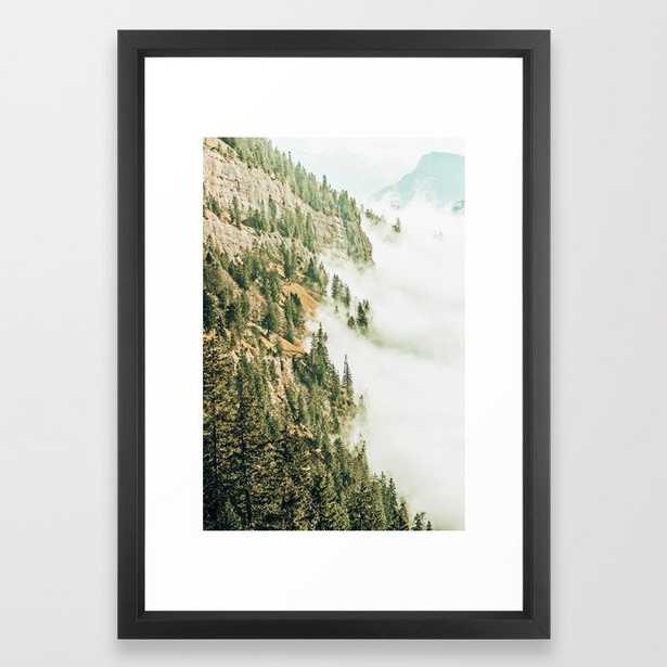 Hills & Fog #photography #nature Framed Art Print by 83 Orangesa(r) Art Shop - Vector Black - SMALL-15x21 - Society6