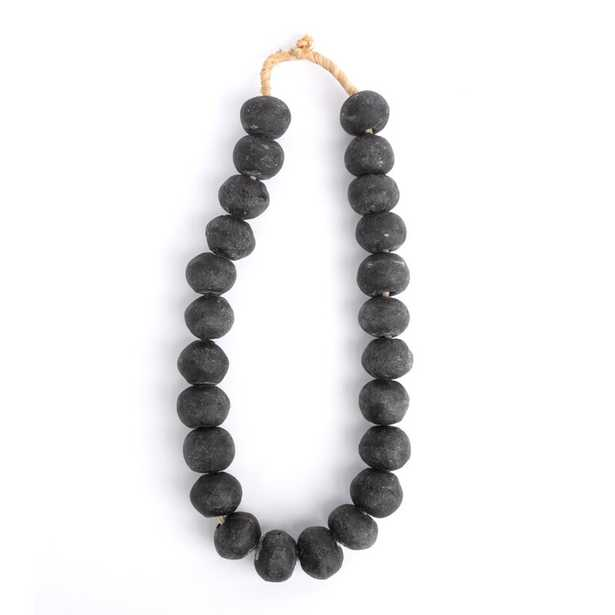 """Ngala Trading Co. Ghanian Loose Glass Beads Sculpture Finish: Black, Size: 14.5"""" H x 5.5"""" W x 1.5"""" D - Perigold"""