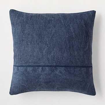 "Cotton Canvas Pillow Cover, 18""x18"", Midnight - West Elm"