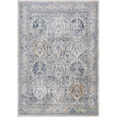 Fairoaks Oriental Gray/Blue Area Rug - Wayfair