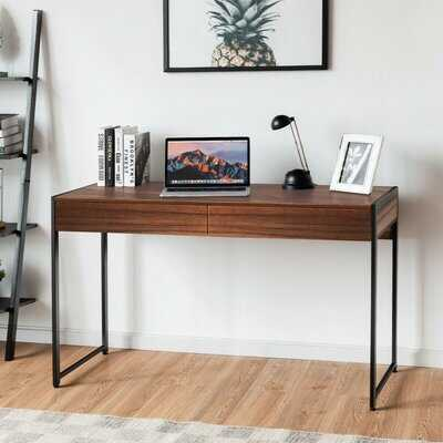 2-Drawer Computer Desk Study Table Home Office Writing Workstation,Brown - Wayfair