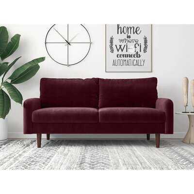 """Latish Velvet 70"""" Velvet Round Arm Sofa - Wayfair"""