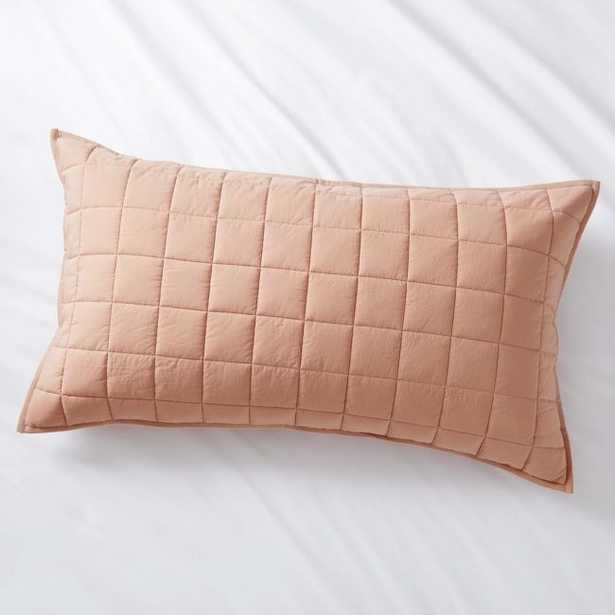 Mellow Blush King Quilted Sham - Crate and Barrel