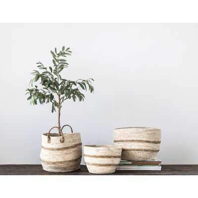 Maize 3 Piece Wicker/Rattan Basket Set - Wayfair