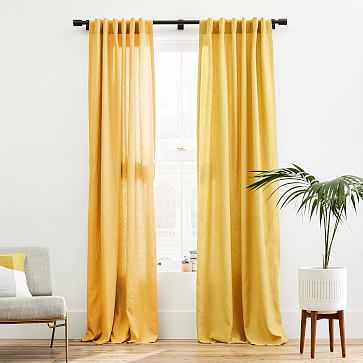 "European Flax Linen Curtain, Dijon, 48""x84"" - West Elm"