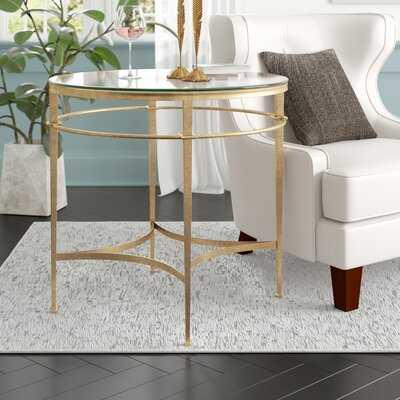 Reynaldo Glass End Table - Wayfair