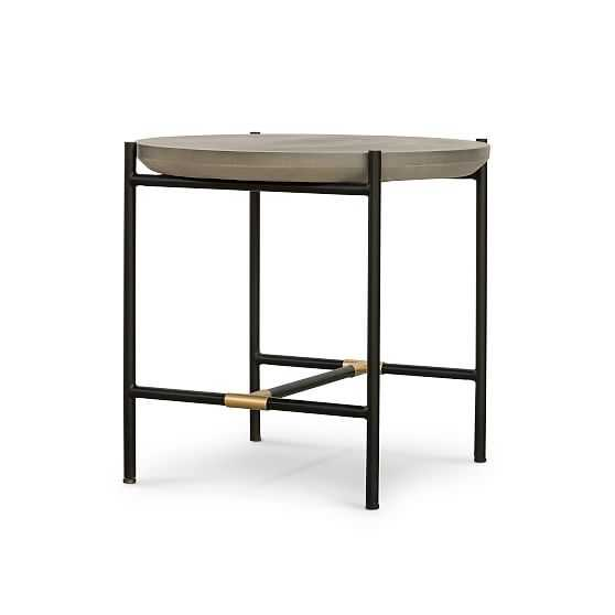 Finian End Table, Natural Brass - West Elm