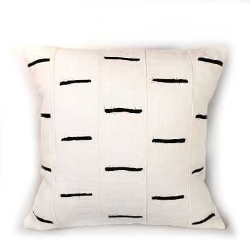 Tonga Pillow Cover, Black Dashes - West Elm