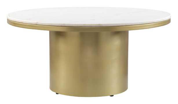 Daschanelle Coffee Table White & Gold - Zuri Studios