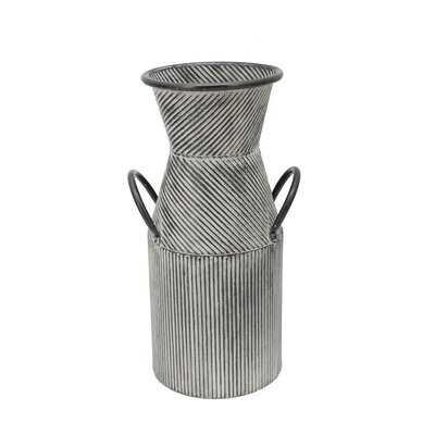 Tascherau Black Indoor / Outdoor Metal Table Vase - Birch Lane