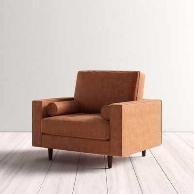 "Ainslee Genuine Leather 32.5"" Armchair - AllModern"