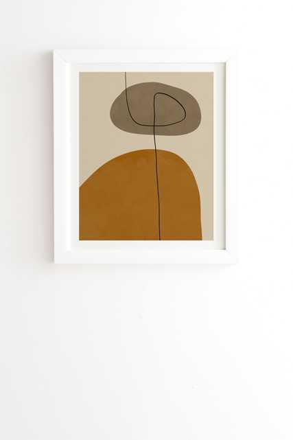 "Organic Abstract Shapesii by Alisa Galitsyna - Framed Wall Art Basic White 30"" x 30"" - Wander Print Co."