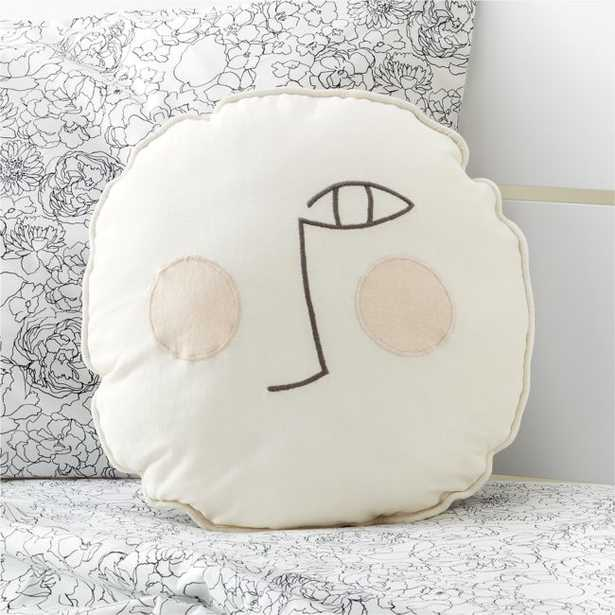 Black and White Face Pillow - Crate and Barrel