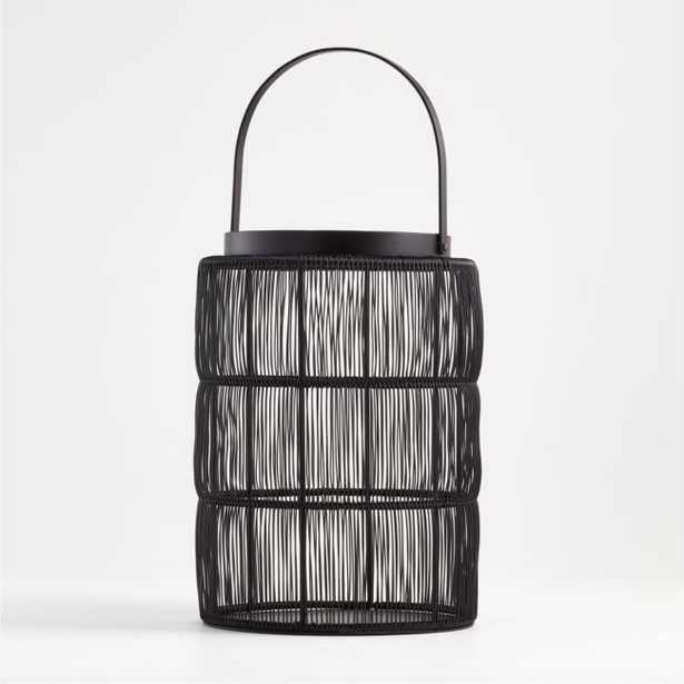 Ora Large Black Wire Lantern - Crate and Barrel