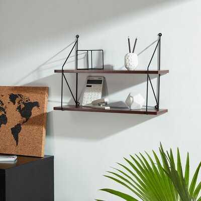Fredericktown Metal Wood Floating Shelf - Wayfair