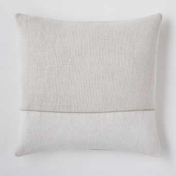 """Cotton Canvas Pillow Cover, 18""""x18"""", White - West Elm"""