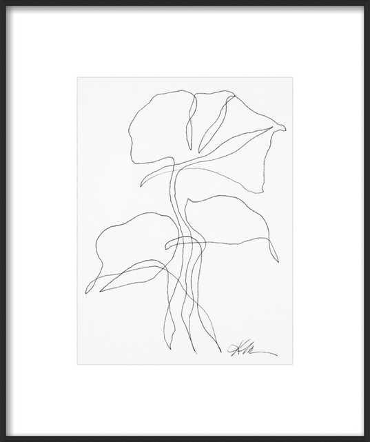Ink Botanical 10 by Kellie Lawler for Artfully Walls - Artfully Walls