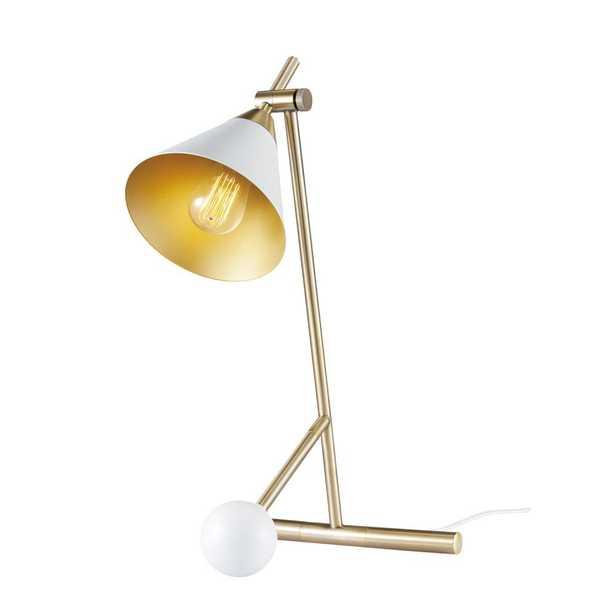 Novogratz x Globe Electric Zelda 22 in. 1-Light Matte White Desk Lamp - Home Depot