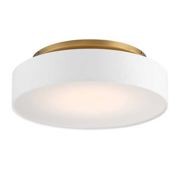 Manhattan 1 - Light Shaded Drum LED Semi Flush Mount - Perigold