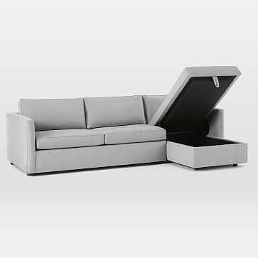 Harris 2-Piece Chaise Sectional w/ Storage - RIGHT - West Elm
