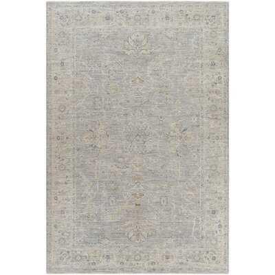 Oriental Light Gray, Medium Gray Area Rug - Wayfair