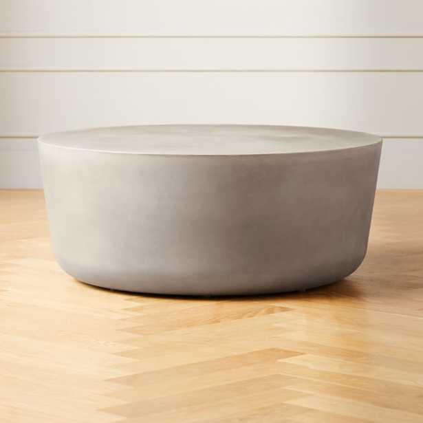 Cap Grey Cement Coffee Table - CB2