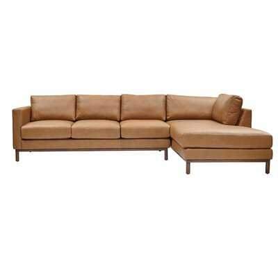 """Eshan Leather 115"""" Right Hand Facing Sectional - Wayfair"""