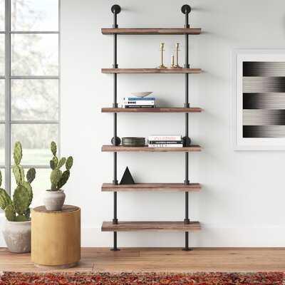 Carl Iron Pipe Wall Mount Ladder Bookcase - AllModern
