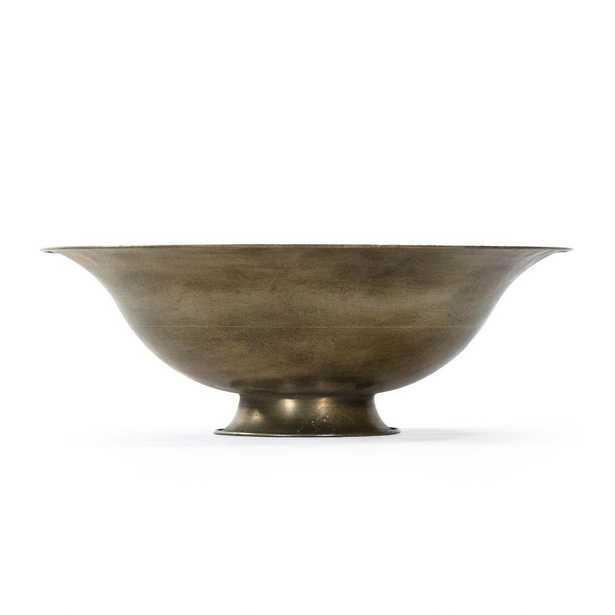 Zentique Curved Iron Sheet Antique Gold Magalie Bowl - Home Depot