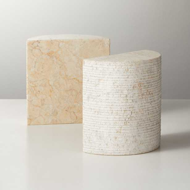 Column Marble Bookends Set of 2 - CB2