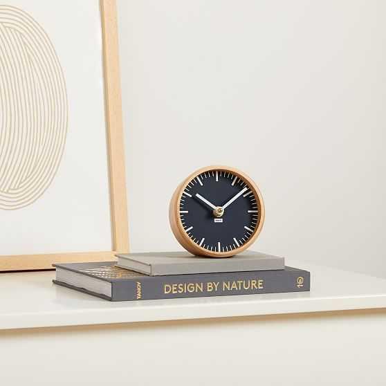 Tait Desktop Clock, Slate - West Elm