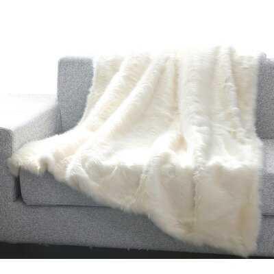 Thiele Luxury Tip Dye Faux Fur Throw - AllModern
