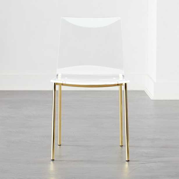 Chiaro Clear Chair Gold - CB2