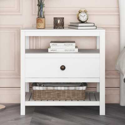 Modern Wooden Nightstand With Drawers - Wayfair