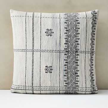 """Woven Canyon Pillow Cover, 20""""x20"""", Gray - West Elm"""
