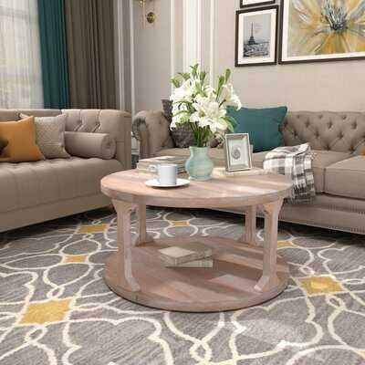 Bensohurst Floor Shelf Coffee Table with Storage - Wayfair