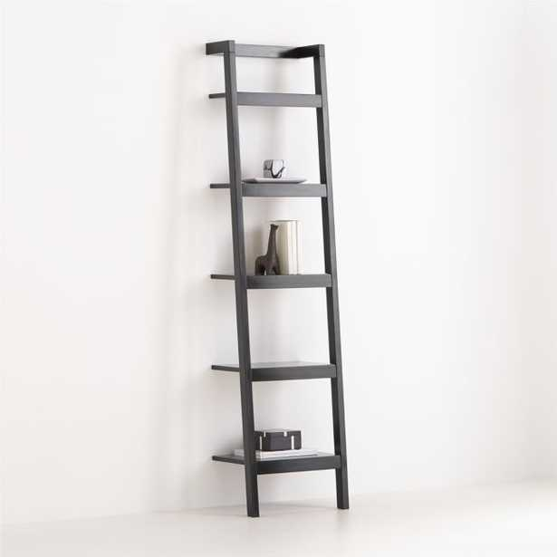 """Sawyer Black Leaning 18"""" Bookcase - Crate and Barrel"""