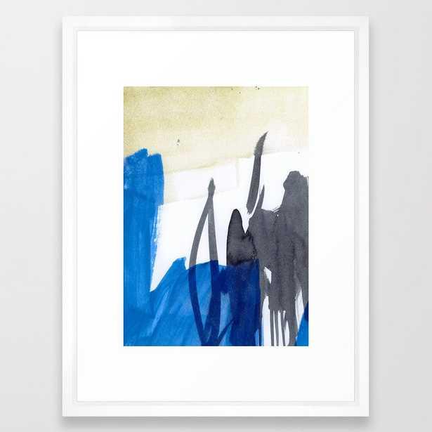 Abstract Blue Framed Art Print by Iris Lehnhardt - Vector White - MEDIUM (Gallery)-20x26 - Society6