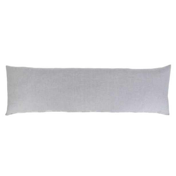"Pom Pom At Home Carter Feathers 18"" x 60"" Body Pillow Color: Ivory/Denim - Perigold"