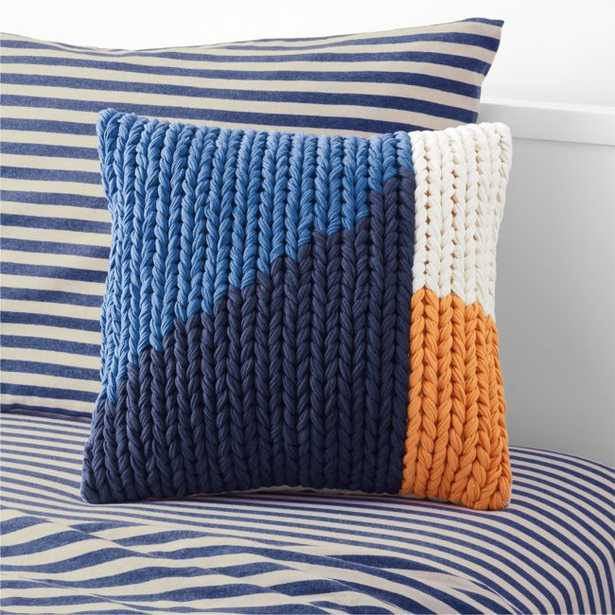 Colorblock Chunky Knit Pillow - Crate and Barrel
