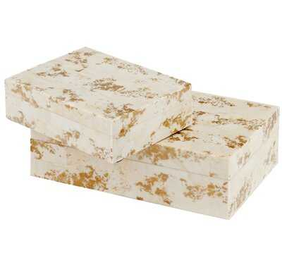Lejeune Decorative 2 Piece Bone Box Set - AllModern