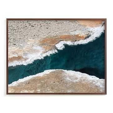 Minted Beneath The Crust, 40X30, Full Bleed Framed Print, Walnut Wood Frame - West Elm