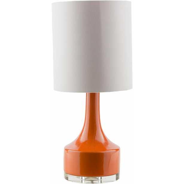 SURYA CARPET Layla 24.5 in. Bright Orange Indoor Table Lamp - Home Depot