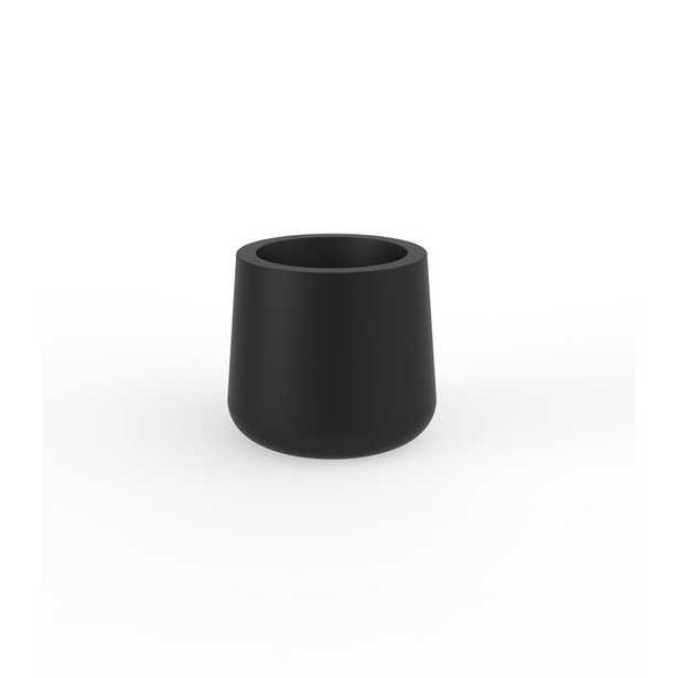 """Vondom Ulm Pot Planter Color: Black, Size: 11.75"""" H x 13.25"""" W x 13.25"""" D - Perigold"""