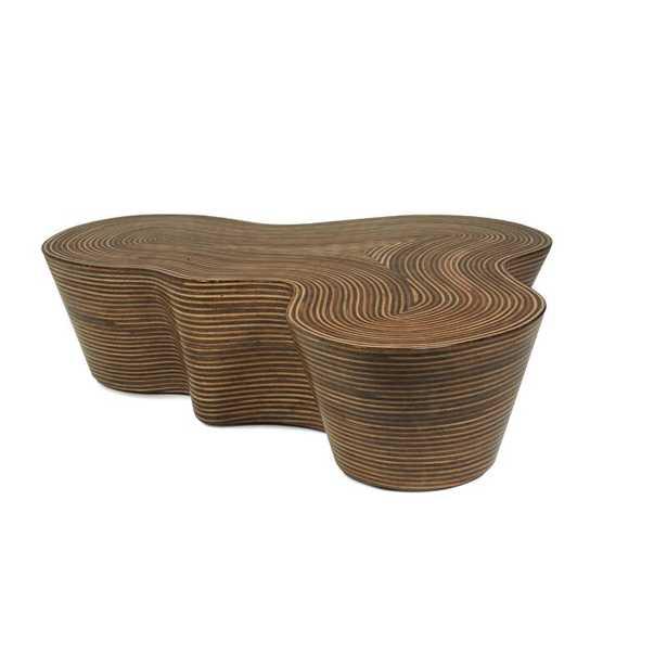 "Oggetti Showtime Abstract Coffee Table Size: 14.5"" H x 50"" L x 48"" W - Perigold"
