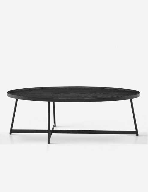Gweneth Oval Coffee Table, Black Ash - Lulu and Georgia