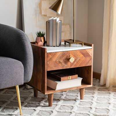 Kerstetter Parquet 1 - Drawer Solid Wood Nightstand - Wayfair