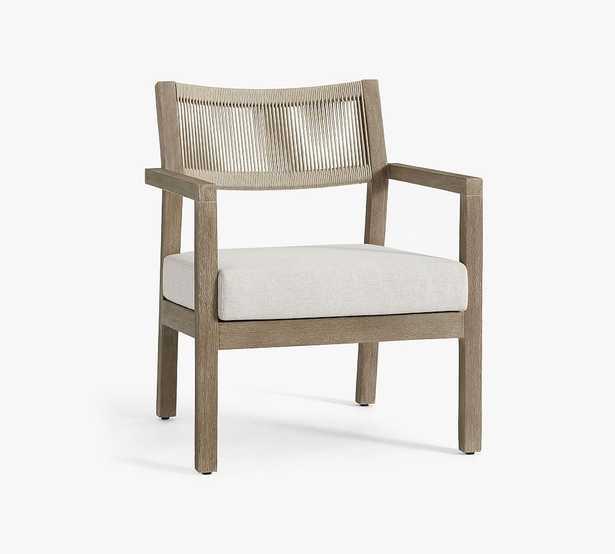 Indio Coastal Rope Lounge Chair Slipcover, Premium Quick Drying Sunbrella(R) Rain; Sapphire - Pottery Barn