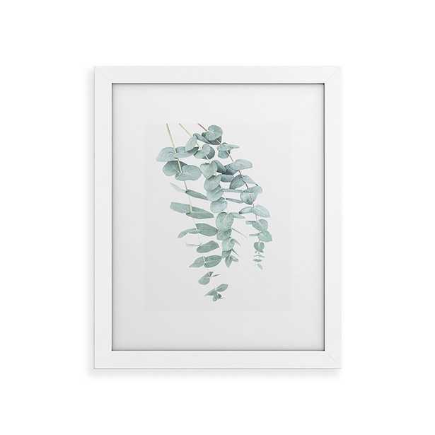 """Mint Eucalyptus Ii by Sisi and Seb - Classic Framed Art Print White 24"""" x 36"""" - Wander Print Co."""